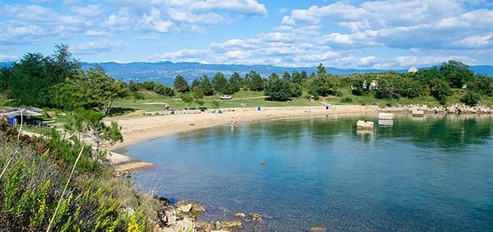 Písečná pláž sv.Marek, Krk