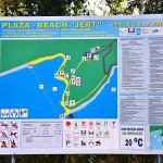 Mapa pláže Jert u Pineziči, Krk