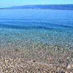 Oblázková pláž Potovošće, Krk