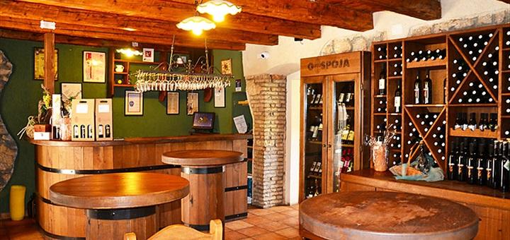 Interiér vinařství Gospoja, Krk, Chorvatsko