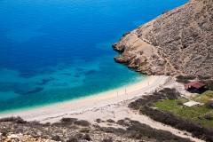 Pláž u Punatu, ostrov Krk - Chorvatsko