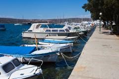 Lodě v Punatu na ostrově Krk - Chorvatsko