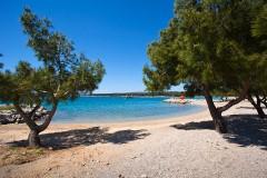 Písčitooblázkové pláže, Krk - Chorvatsko