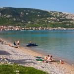 Písčitooblázková pláž Baška, ostrov Krk